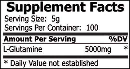 Private Label Glutamine Powder sports supplement