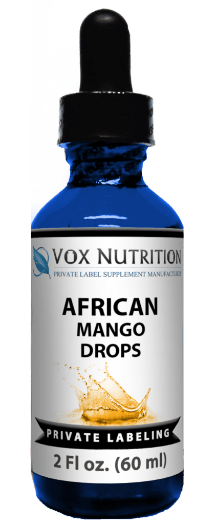 private label african mango drops weight loss supplement