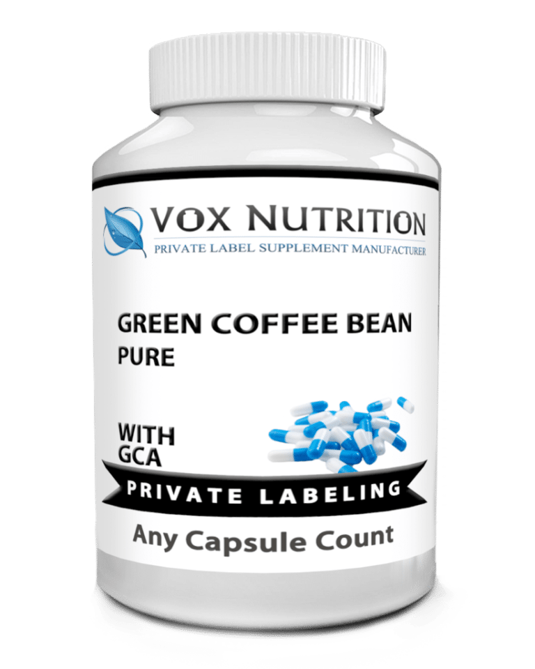 private label green coffee bean extract weight loss supplement