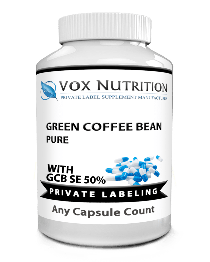 private label green coffee bean weight loss supplement