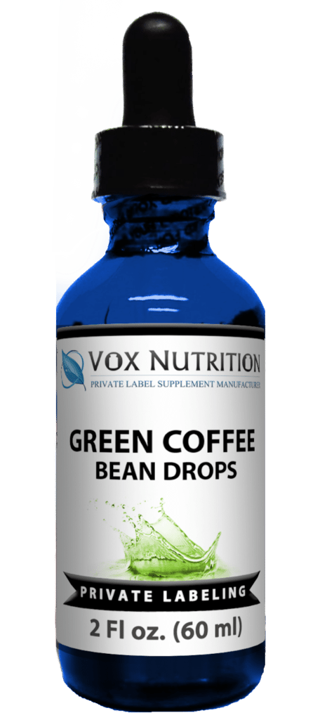 private label green coffee bean drops weight loss supplement