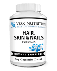 private label hair skin and nail vitamin supplement