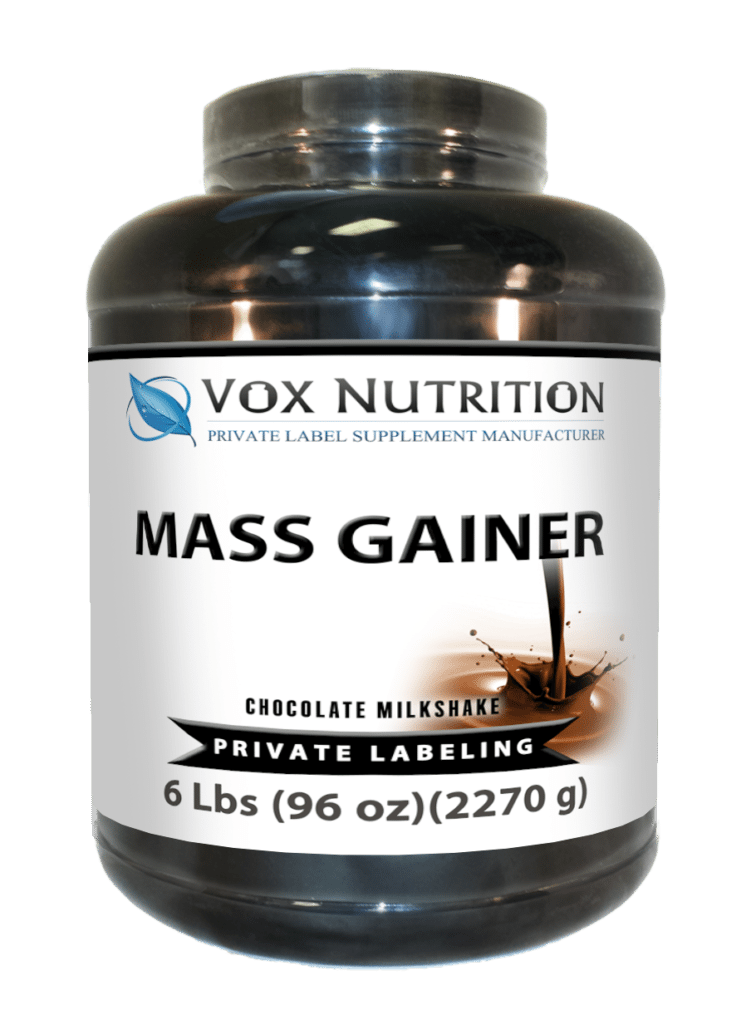private label protein mass gainer powder, sports nutrition supplement