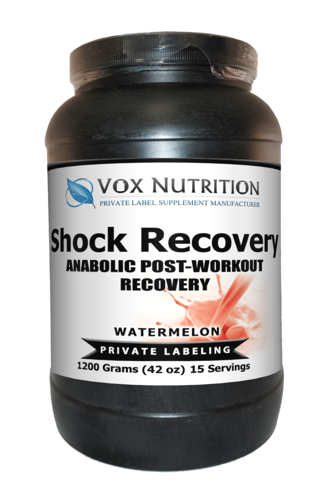 private label shock recovery sports nutrition supplement