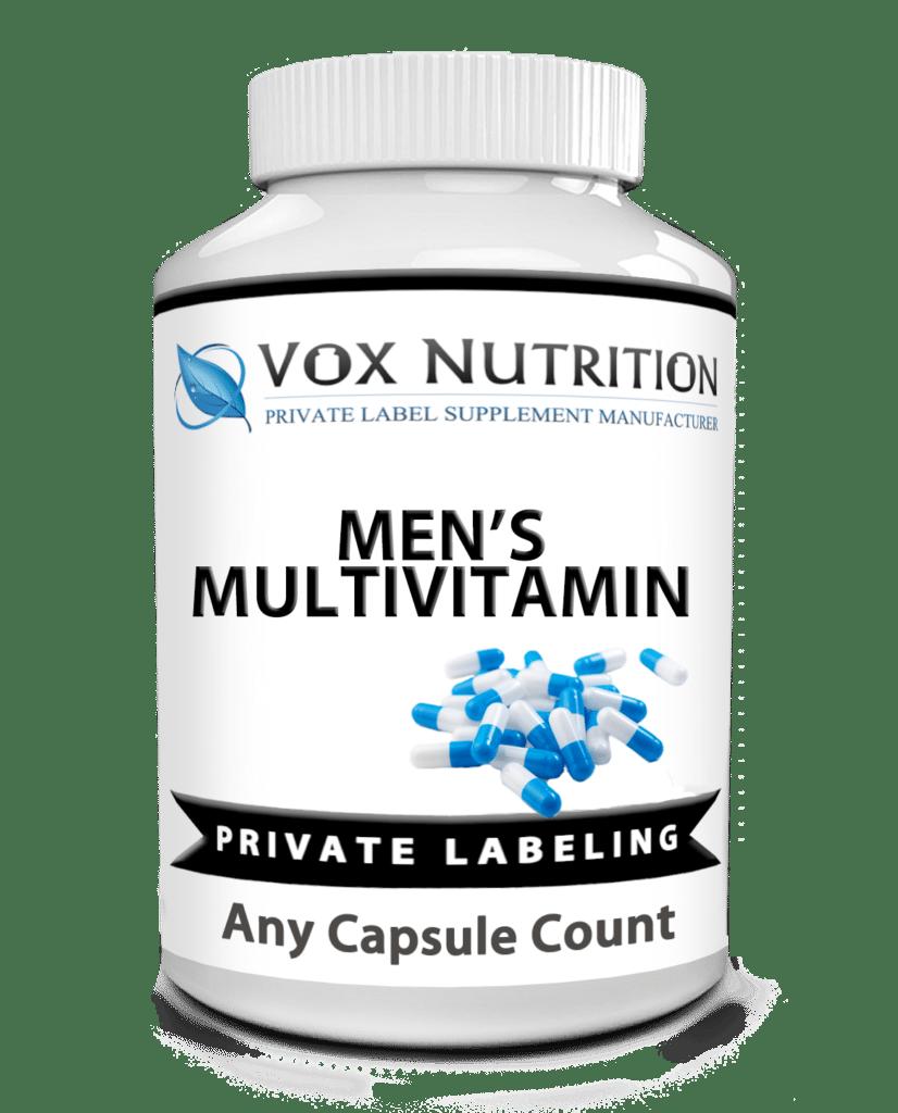private label men's multivitamin vitamin supplement
