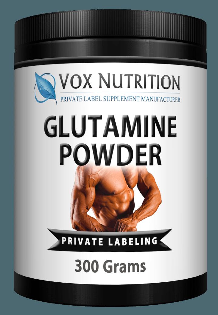 private label glutamine powder sports nutrition supplement
