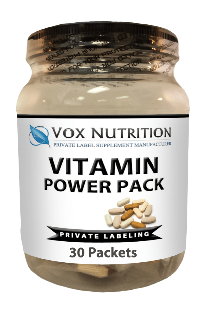 Private label vitamin power pack vitamin supplement