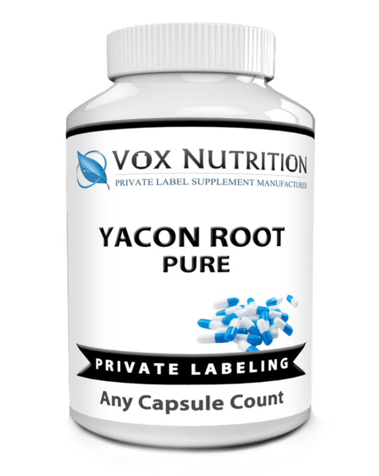 private label yacon root extract herbal vitamin supplement