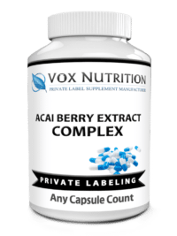 private label acai berry complex weight loss supplement