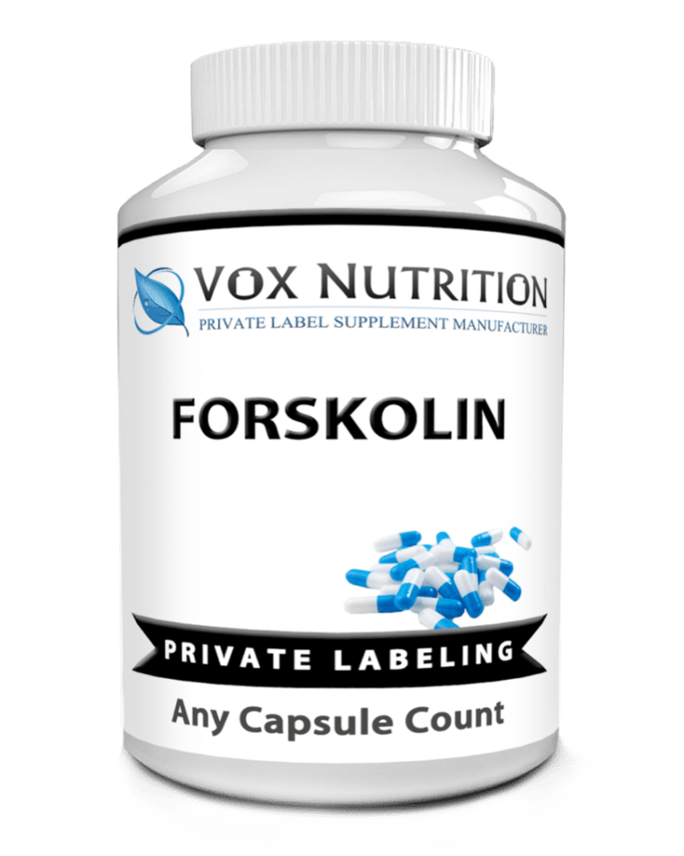 private label forskolin weight loss supplement