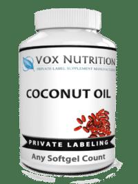 private label coconut oil vitamin supplement