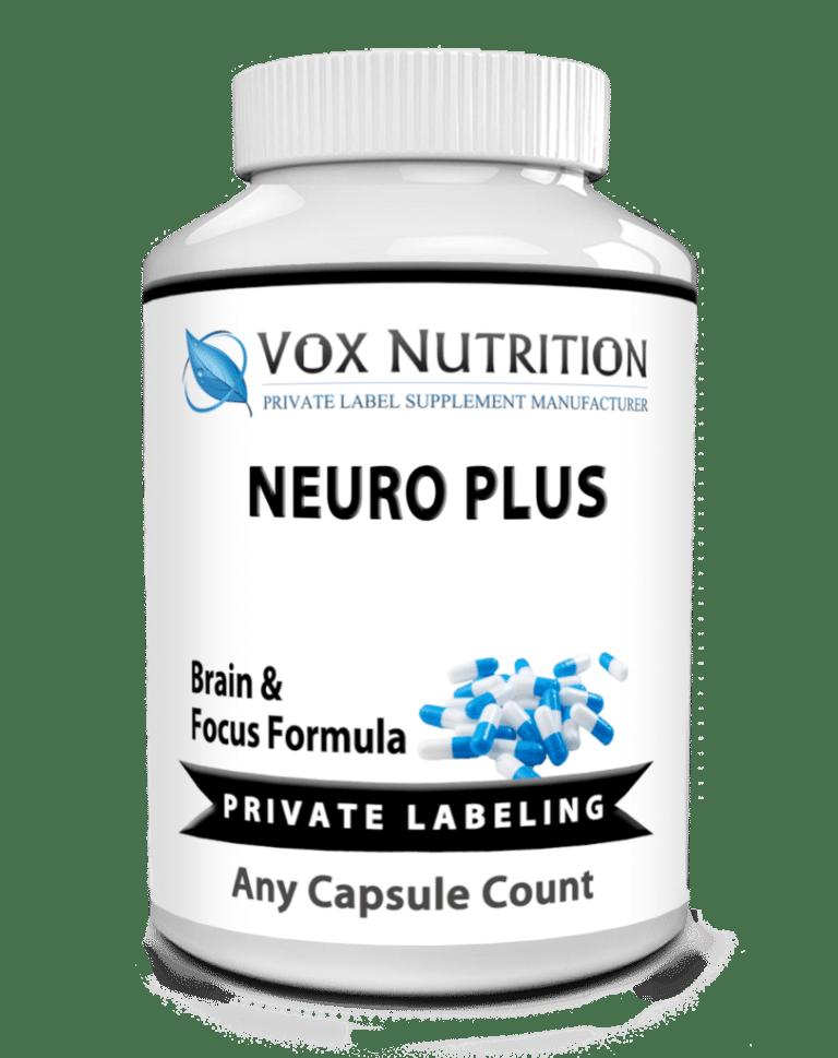 private label brain formula vitamin supplement