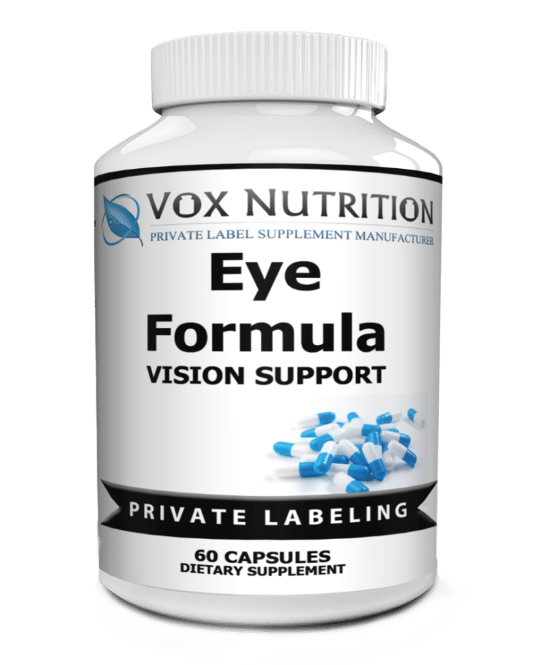 private label eye formula vitamin supplement