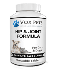 private label hip and joint formula pet supplement