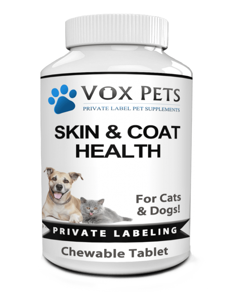 private label cat and dog skin and coat health pet supplement