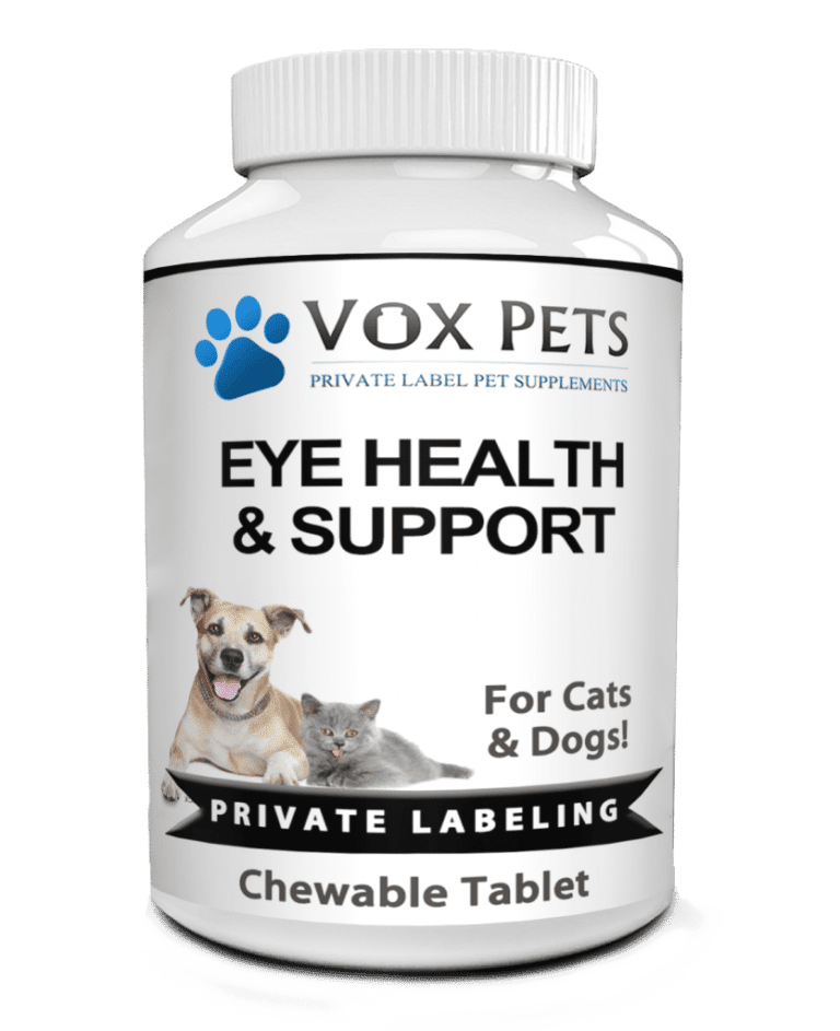 private label pet eye health and support pet supplement