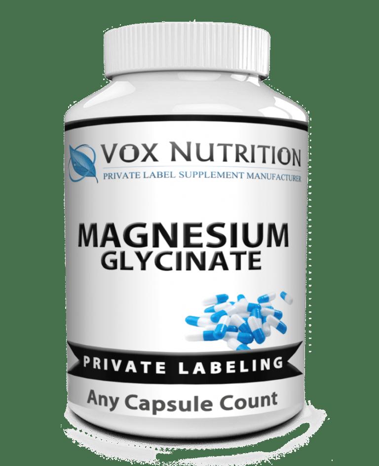 private label magnesium glycinate vitamin supplement