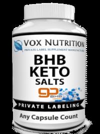 private label bhb keto salts vitamin supplement