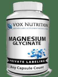 private label magnesium glycinate herbal vitamin supplement
