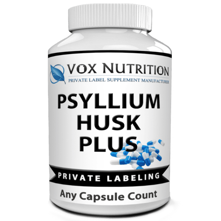 private label psyllium husk plus weight loss supplement
