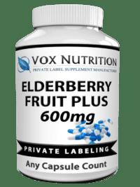 private label elderberry fruit plus vitamin supplement