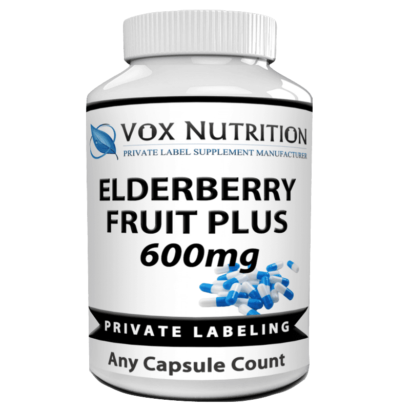 private label elderberry fruit plus vitamin supplement