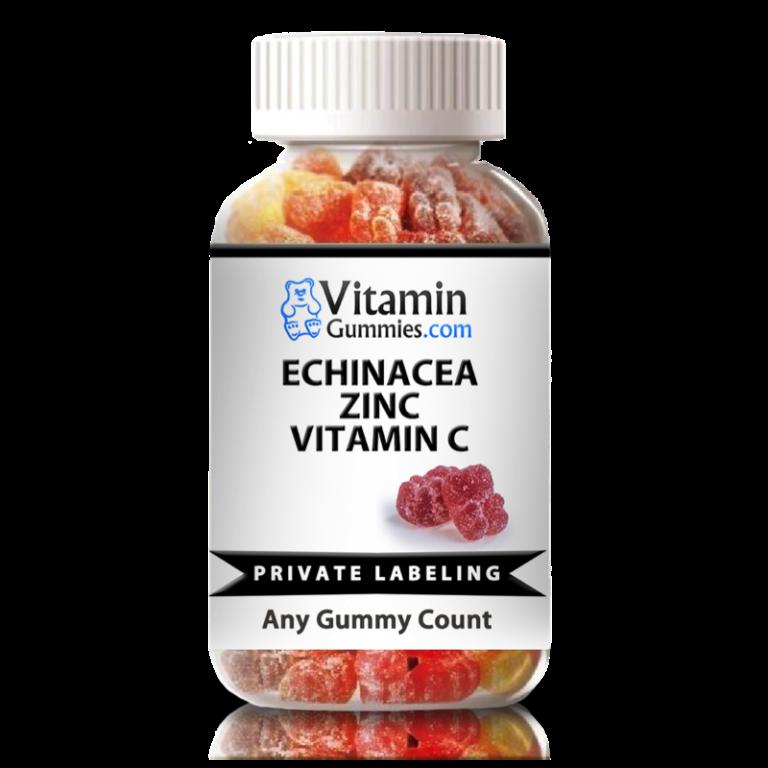 private label echinacea, zinc, vitamin c gummy supplement