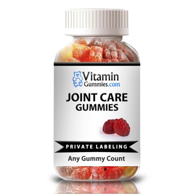 private label joint care vitamin gummy supplement