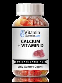 private label calcium and vitamin d gummy supplement