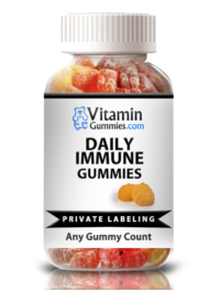 private label daily immune vitamin gummy supplement