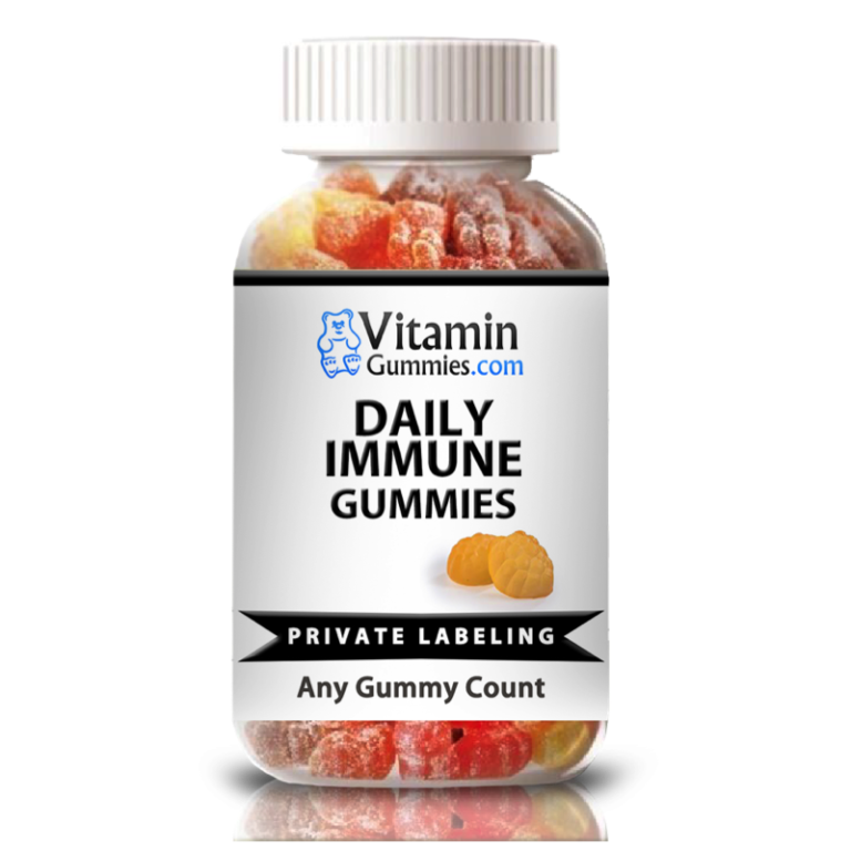private label daily immune vitamin gummy supplement