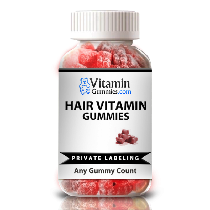 private label hair vitamin gummy supplement