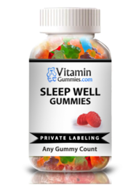private label sleep well vitamin gummy supplement