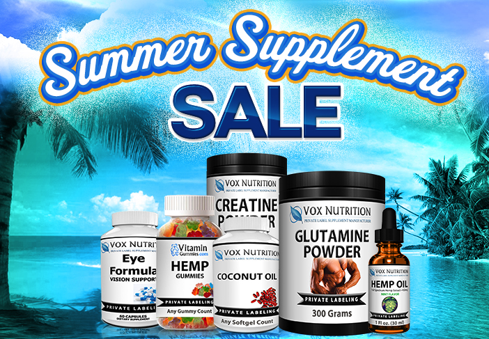Summer Supplement Sale | Vox Nutrition - Private Label Supplement