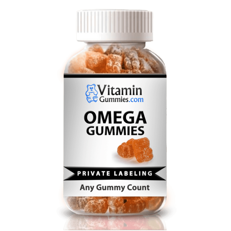 private label omega gummy vitamin supplement